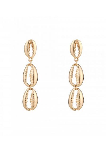 Gouden schelpjes oorbellen