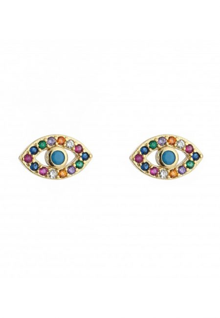 Color strass oorbellen, oogjes
