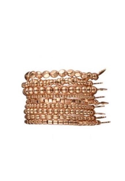 Goudkleurig elastisch armbandje
