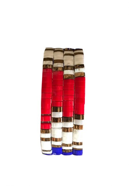 Rood, wit, blauw Tila bracelet
