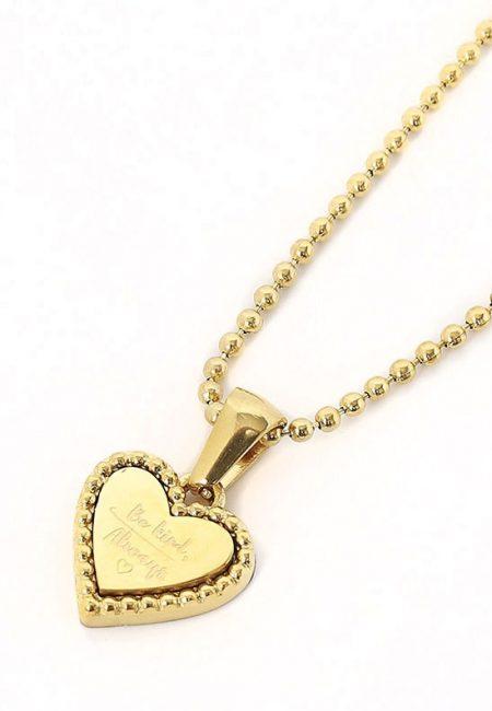 Gouden Lange ketting met hartje