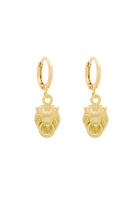 Kleine leopard gouden oorbellen