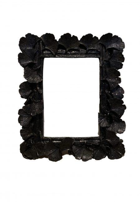 Zwart fotolijstje blaadjes motief