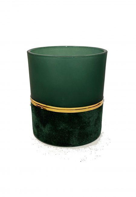 Velvet groen glazen sfeerlichtje