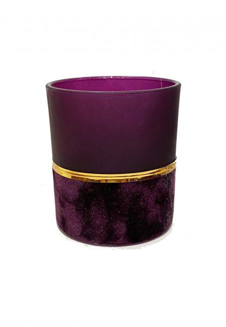Velvet paars glazen sfeerlichtje