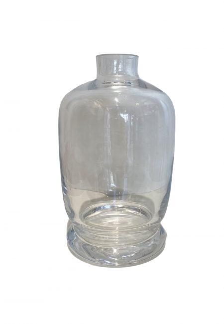 Glazen sier fles