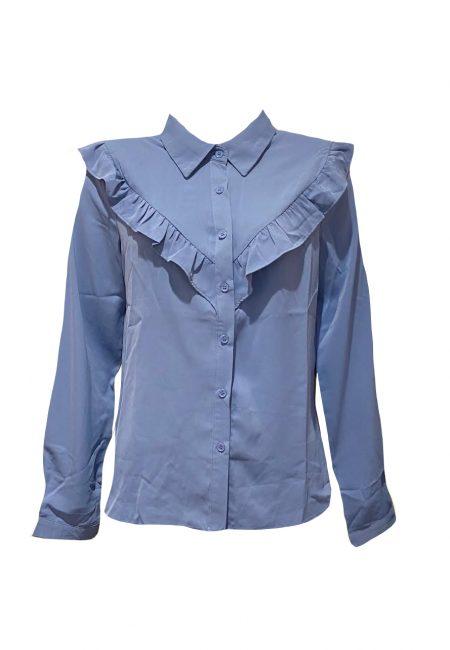 Lanvendel blauwe blouse