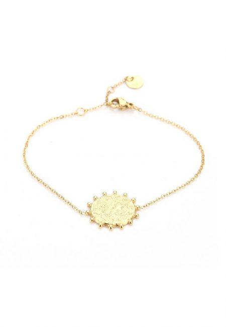 Goudkleurige armband met zonnetje