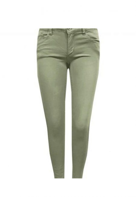5 pocket olijfgroene stretch jeans