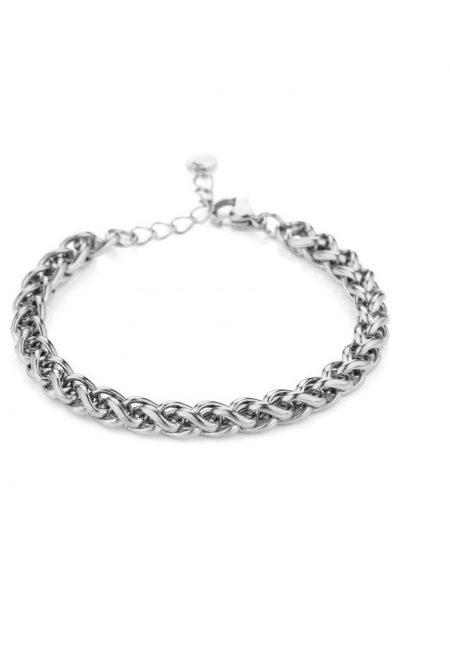 Zilverkleurige schakelarmband