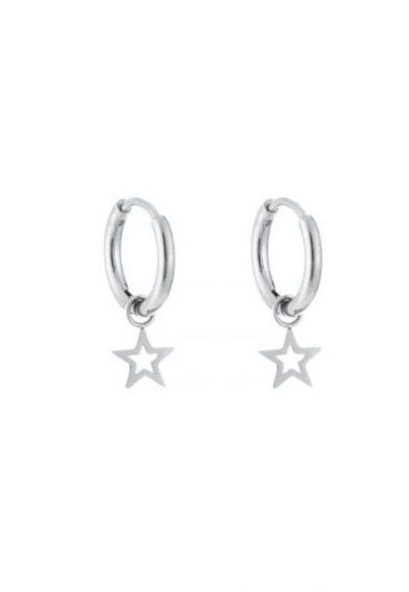 Zilverkleurige oorbellen met ster