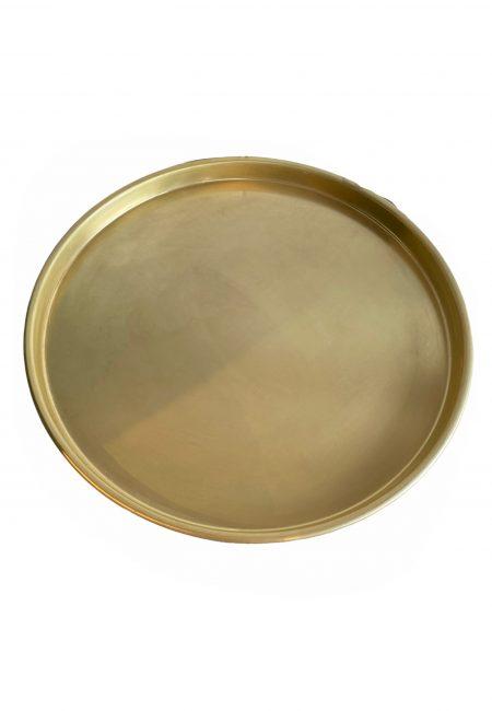 Grote gouden schaal, dienblad
