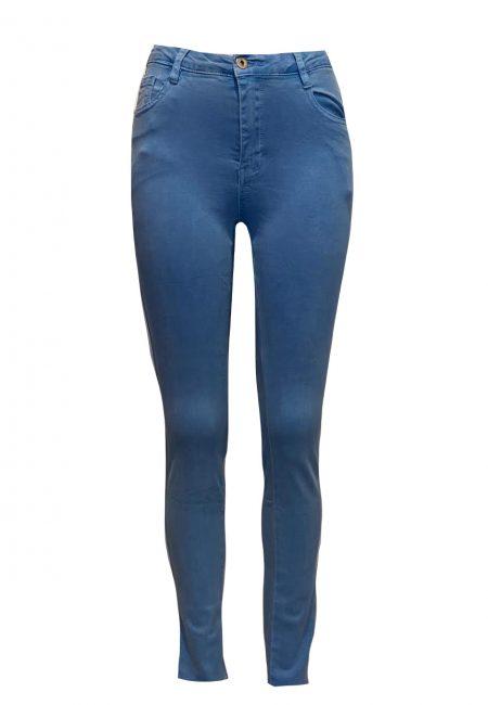 Blauwe full stretch 5 pocket jeans