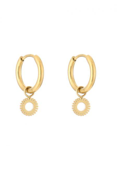 Kleine goudkleurige oorbellen met rondje