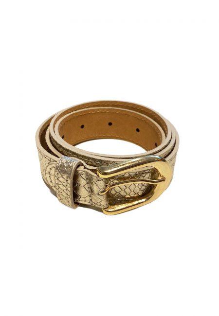 Metallic gouden leren riem
