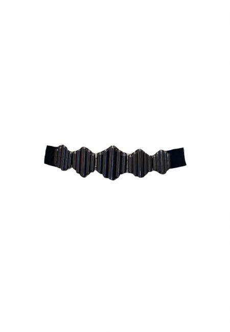 Zwarte stretch riem