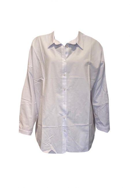 Witte oversized basic blouse