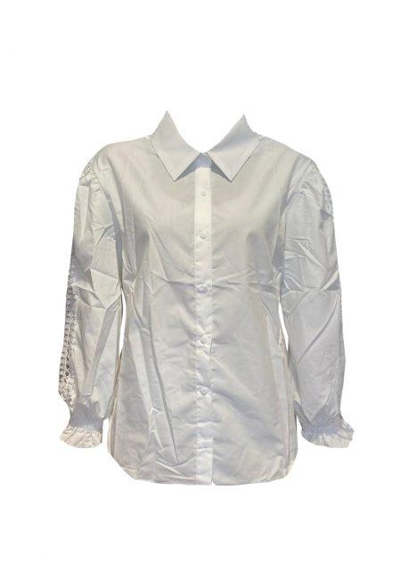 Poplin witte blouse