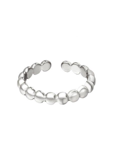Zilverkleurige verstelbare ring