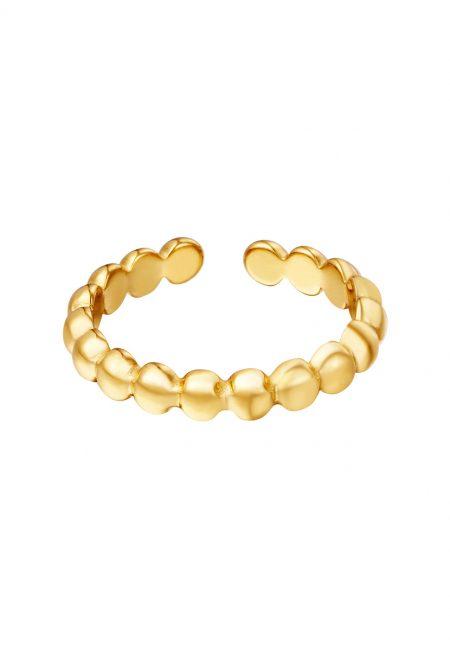 Goudkleurige verstelbare ring