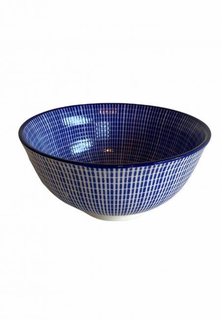 Blauw aardewerk schaaltje