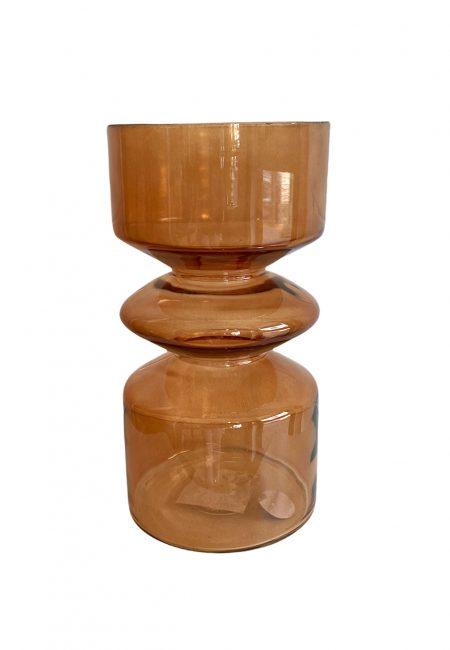 Bruine glazen vaas