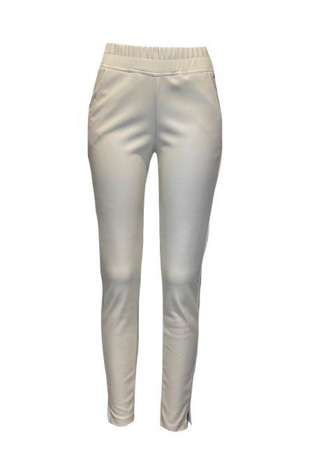 Off white leerlook jogger pants