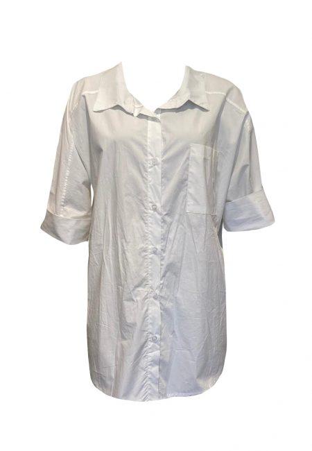 Oversized witte blouse