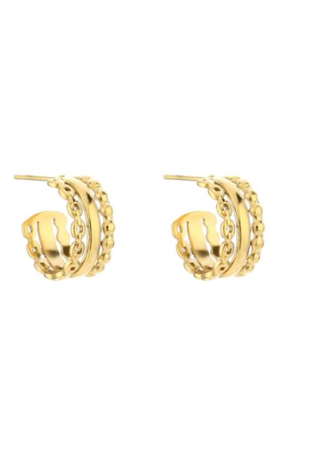Goudkleurige klassieke oorbellen