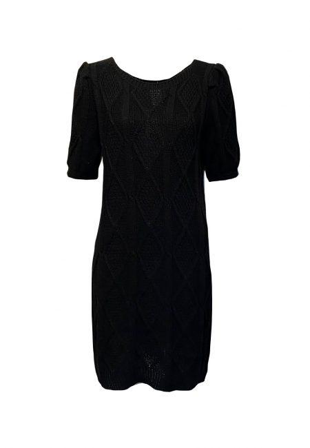 Gebreid zwart jurkje