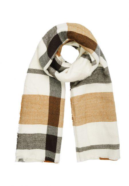 Geruite lange shawl