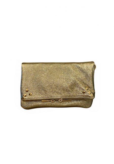 Metallic gouden leren tas