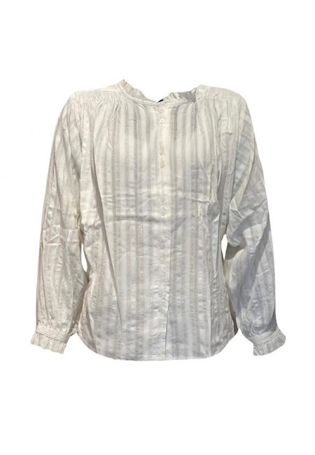 Katoen voile blouse met goud draadje