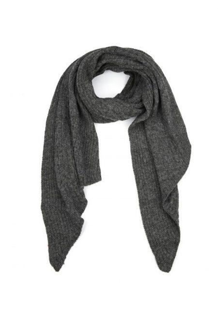 Lange shawl antraciet
