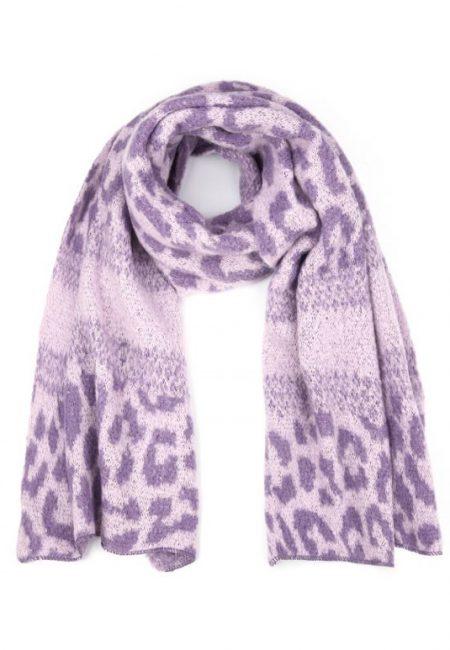Leopard shawl lila