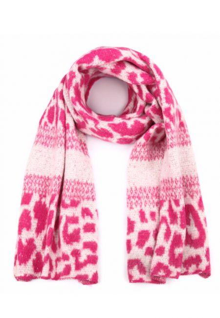 Leopard shawl roze