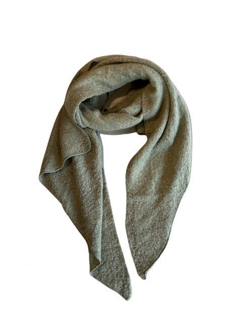 Olijf groene wollige shawl