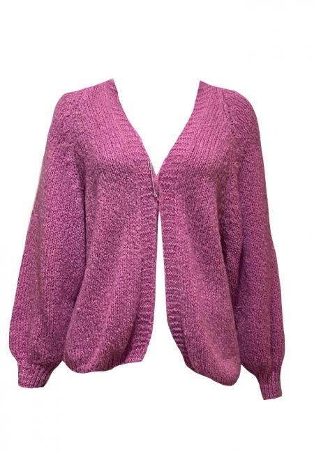Roze oversized vest
