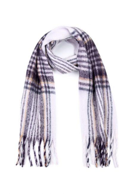 Lila wollige shawl