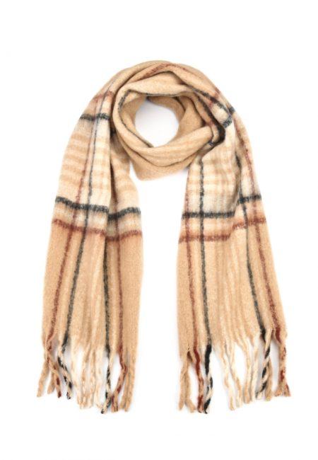 Zandkleurige wollige shawl