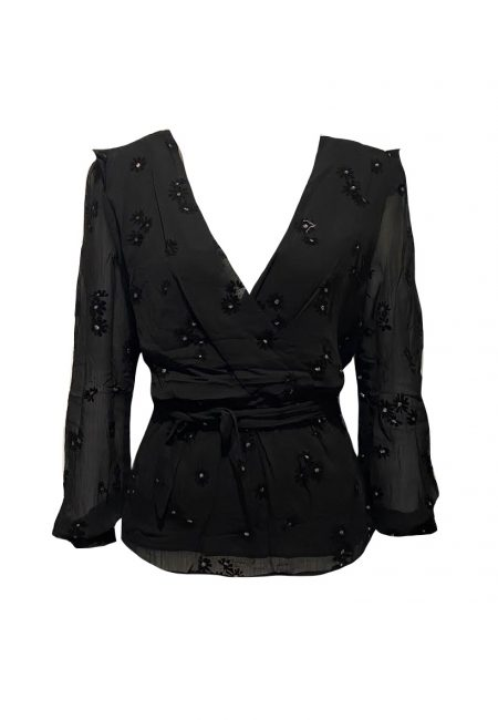 Voile overslag blouse
