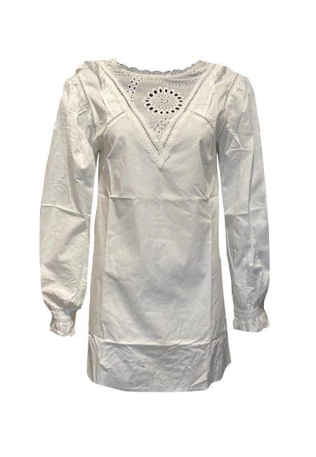 Wit katoen blouse/jurkje