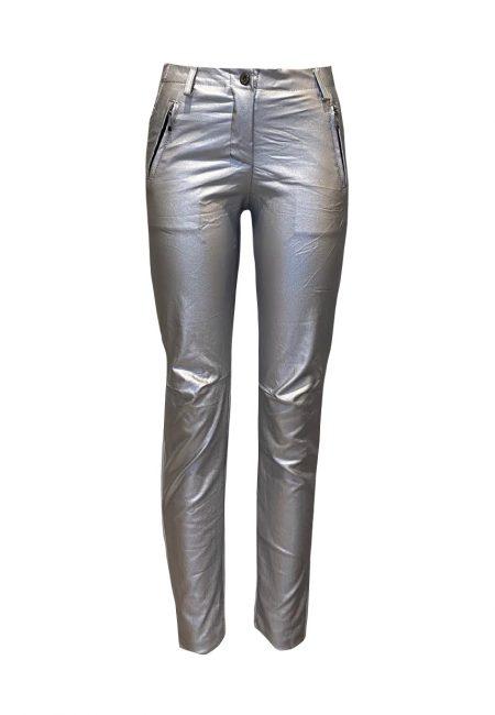 Zilver metallic broek