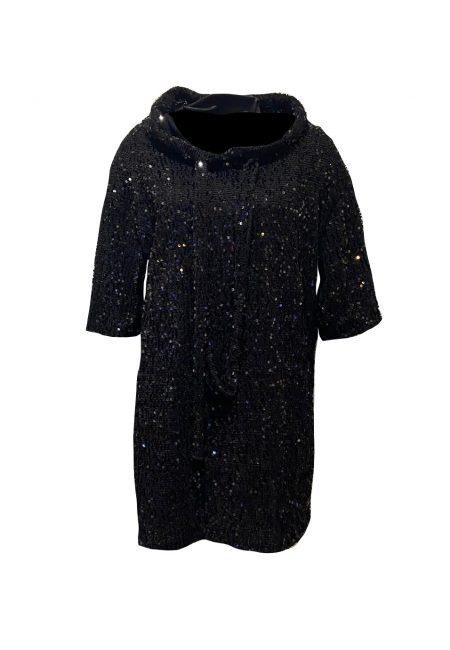 Zwarte hoodie met lovertjes